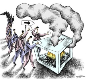 democracy cartoon