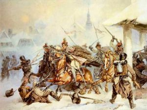 Attack_of_Polish_Krakusi_on_Russians_in_Proszowice_1846
