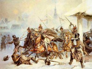 Attack_of_Polish_Krakusi_on_Russians_in_Proszowice_1846