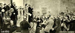 نشست بین الملل اول در 28 سپتامبر 1864 در لندن