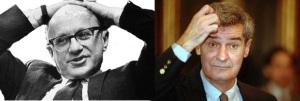 میلتون فریدمن (چپ) و رابرت لوکاس (راست)