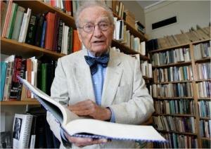 پل ساموئئلسون، اقتصاددان فقید امریکایی در سال ، ا2009 اندکی پیش از مرگ در سن 94 سالگی