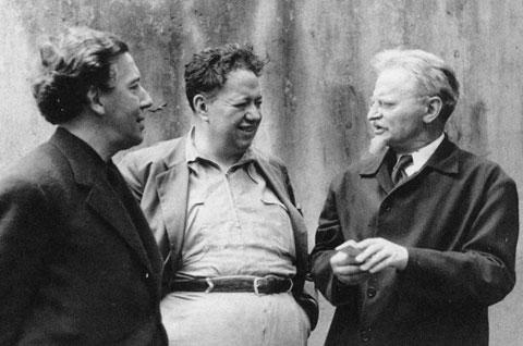 آندره برتون، دیه گوریورا و لئون تروتسکی در پاریس