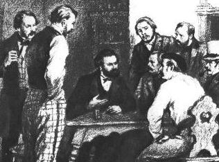 مارکس و انگلس در پاریس 1844