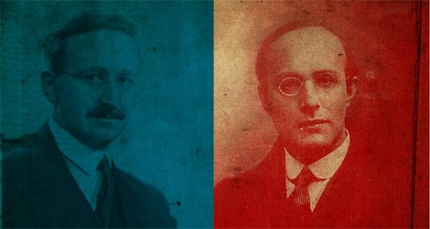 کارل پولانی (راست) و فریدریش فون هایک (چپ)