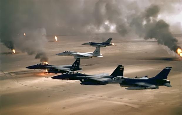 bombing Iraq